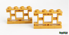 Lego 2x Zaun 1x4x2 Pearl Gold Fence Ornamental Asian 32932 Neuware / New