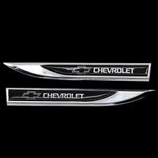 1pair Black Blade Fender Badge Emblems Sticker for CHEVROLET