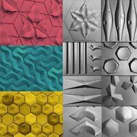 🔥Molds For 3D Tile Panels DIY Plastic Mold Wall Molding Stone Deco Form Plaster
