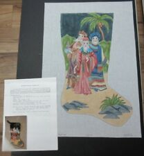 Joan Thomasson  Wiseman Stocking:  Hand Painted Needlepoint Canvas SQ271