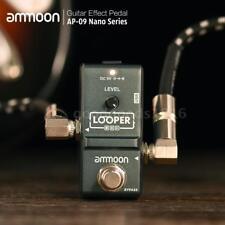 ammoon AP-09 Nano e-Gitarre Effekt Pedal Looper True Bypass mit USB-Kabel C7A4