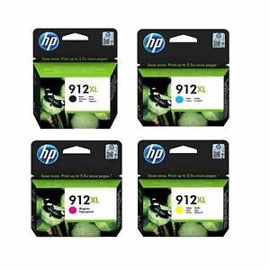 Genuine HP912XL CMYK Ink Cartridges Lot for HP OfficeJet Pro 8022 8023 8024 8025