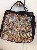 Ed Hardy by Christian Audigier Geisha Skulls Travel Tote Zip Bag Purse