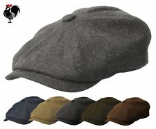 ROOSTER WOOL TWEED NEWSBOY GATSBY CAP MEN IRISH DRIVING IVY GOLF HAT CABBIE