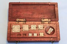 19th Century France Box Apothecary Weights Scale Paris