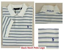 Polo Golf Ralph Lauren Logo Neck Striped Performance Classic Pony Mesh Shirt XXL
