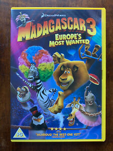 Madagascar 3 DVD 2012 DreamWorks Animated Feature Film Europe's Most Wanted