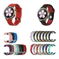 18mm Silicone Replacement Strap Watch Band for Ticwatch C2 Rose Gold Version GL