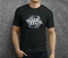 New Popular Spiral Tribe Techno Party Music Men's Black T-Shirt S-3XL