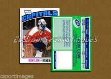 Ron Low - Washington Capitals - Custom Hockey Card  - 1975-76