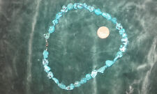 TURQUOISE NECKLACE, hand made in the U.K strung on unbreakabe steel wire .