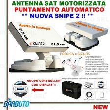 ANTENNA PARABOLA AUTOMATICA MOTORIZZATA SATELLITE X CAMPER-NUOVA SELFSAT SNIPE 2