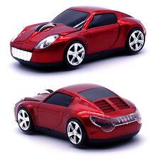 US Lamborghini 2.4GHz Wireless 1600DPI 3D Car Shape Optical Gaming Mouse Grey