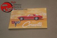 1964 64 Chevy Chevrolet Vette Corvette Owners Owner's Manual