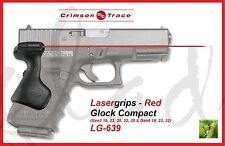 CRIMSON TRACE LG-639 LASERGRIPS Glock Compact Gen3 19/23/25/32/38, Gen4 19/23/32