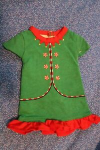 "Wondershop Green Elf Nightgown Pajamas Christmas Dress Fits 18"" Dolls"