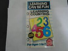 Learning Can Be Fun - Learning Counting For Ages 3 to 7 VHS education for kids