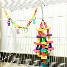 Building Blocks Toys Wood String Chewing Toy Small Medium Large Parrot Birds