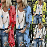 ❤️ Women's Boho Floral Kimono Cardigan Coat Summer Beach Loose Blouse Long Tops