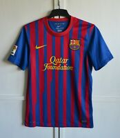 FC BARCELONA SPAIN 2011/2012 HOME FOOTBALL SHIRT SOCCER JERSEY CAMISETA SIZE (S)