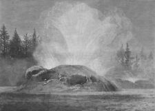 YELLOWSTONE.Washburn-Langford-Doane Expedition.The Grotto Geyser. Wyoming, 1873
