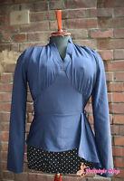 Ausgefallene 50s Style Bluse von Collectif für 50er Rockabella Sale halber Preis