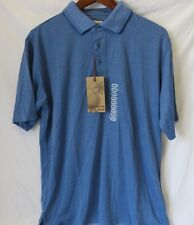 a80b34b2 Jamaica Jaxx Polo Shirt Short Sleeve Modal Polyester Blue Size M #6527