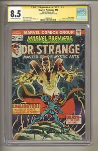 Marvel Premiere 14 (CGC Signature Series 8.5) OW/W Pages; Frank Brunner! (j 198)
