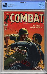 COMBAT #5  CBCS 5.0 - HORRIFIC Cover by RUSS HEATH - RARE ATLAS COMICS - 1952