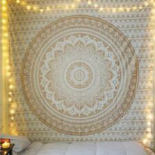 It Indian Tapestry Wall Hanging Mandala Hippie Gypsy Bedspread Throw Bohemian Co Gold