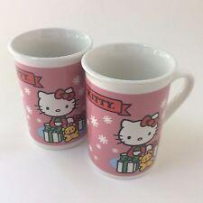 Sanrio Hello Kitty Coffee Tea Mugs Holiday 2013 Christmas Pink Gifts Drummer Boy