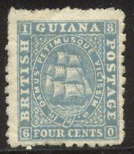 British Guiana #52 Unused - 1866 4c Blue ($130)