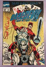 DAREDEVIL #308~MARVEL COMICS~HAND-SIGNED BY SCOTT MCDANIEL~BATMAN/DAREDEVIL