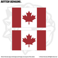 Canada Flag Decal Sticker SET Canadian Maple Leaf Vinyl Car Bumper EMV