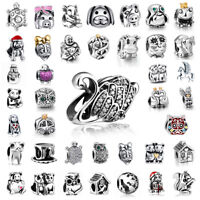 European Silver Charms Animals Bead For 925 Sterling Bracelets Necklace Chain