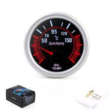 "2"" 52mm Smoke Lens White LED Pointer Oil Temp Temperature Gauge Meter + Sensor"