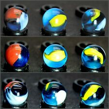 """1 Blue Macaw Marble by Mega / Vacor 0.63"""" +/-"""