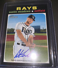 New ListingAustin Meadows 2020 Topps Heritage High Number Real One Autograph Auto Rays