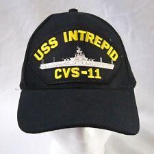 USS INTREPID CVS-11 Official Military Headwear USA Made Black Hat/Cap Snapback