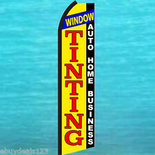 WINDOW TINTING SWOOPER FLAG Flutter Feather Tall Advertising Sign Banner 25-1951