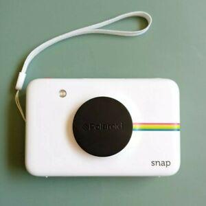 White Polaroid Snap Instant Print Digital Camera w Hand Strap + Lense Cap