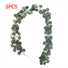 5pcs Artificial Greenery Garland Faux Silk Eucalyptus Vines Wreath Wedding Decor