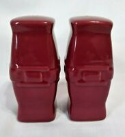 LONGABERGER Woven Traditions Paprika Salt and Pepper Shakers ~ EUC!