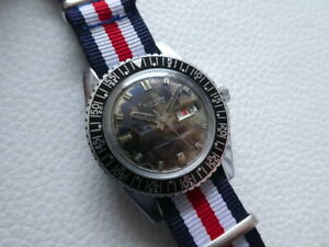 Elegant Very rare Vintage SICURA BREITLING Men's Diver watch from 1970's years!