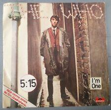 "The Who – 5:15 / I'm One 45 giri dal film ""Quadrophenia"" Italian Issue EX/NM"