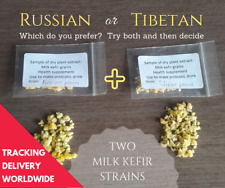2 x Dehydrated Milk Kefir Grains: Russian + Tibetan Strains ~ TRACKING DELIVERY