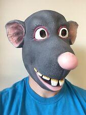 Funny Cartoon Rat Mask Mouse Roland Latex Fancy Dress Costume Ratatouille