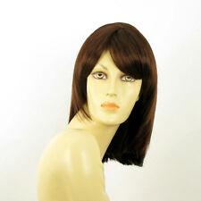 mid length wig for women dark brown copper ref ODELIA 31 PERUK