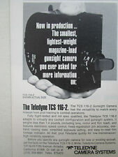 10/1977 PUB TELEDYNE CAMERA SYSTEMS TCS 116-2 GUNSIGHT CAMERA AIR FORCE AD
