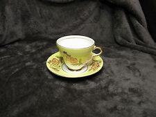 Taylor & Kent Longton England Cup and Saucer Set Tea Coffee Yellow Band Floral